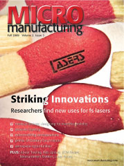 Micro Manufacturing Fall 2009 Cover