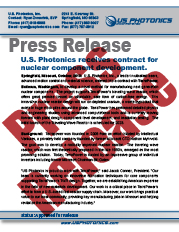 US Photonics TerraPower Press Release